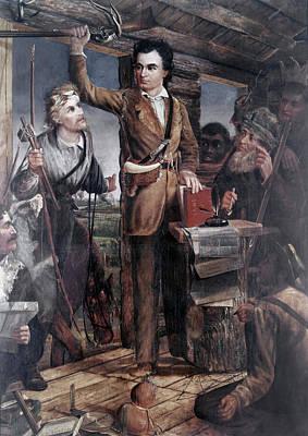 Log Cabin Interiors Painting - Stephen Fuller Austin (1793-1836) by Granger