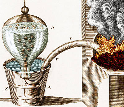 Photograph - Stephen Haless Pneumatic Trough, 1727 by Science Source