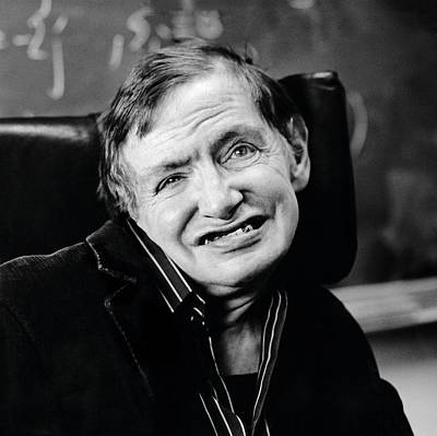 Professor Photograph - Stephen Hawking by Lucinda Douglas-menzies