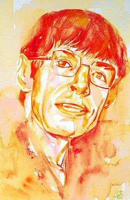 Stephen Hawking Painting - Stephen Hawking Portrait by Fabrizio Cassetta
