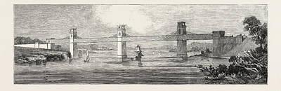 Stephensons Iron Tunnel Railway Bridge, Britannia Art Print