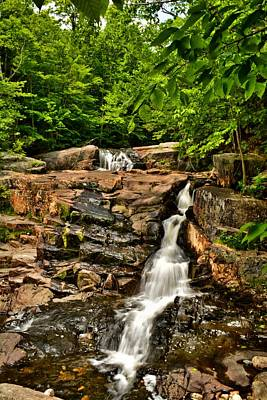 Stepped Falls - Ellsworth New Hampshire Art Print by Naturally NH