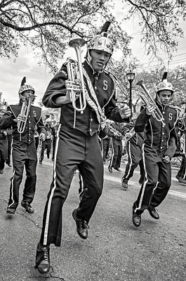 Marching Band Photograph - Steppin' Out Monochrome by Steve Harrington