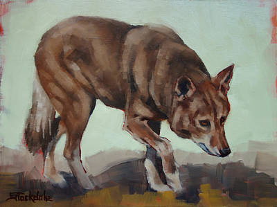 Painting - Steppin' Wolf by Margaret Stockdale