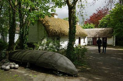 Currach Photograph - Stepping Back In Time - Bunratty Folk Park by Lyle McNamara