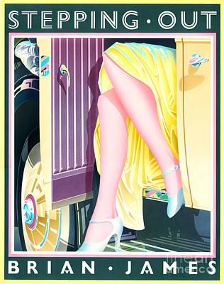 Gatsby Digital Art - Stepping Out by Brian James