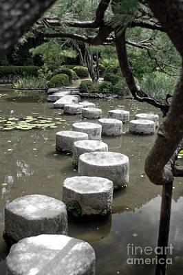 Stepping Stone Kyoto Japan Art Print