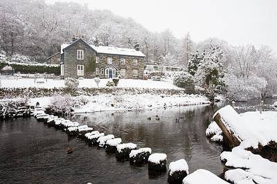 Snow Covered Fields Photograph - Stepping Stones Across A River by Ashley Cooper