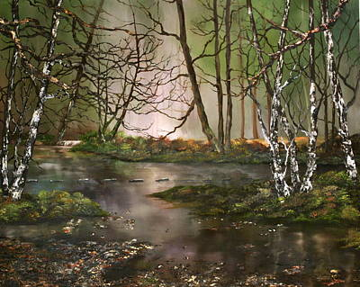 Cannock Chase Painting - Stepping Stones On Cannock Chase by Jean Walker