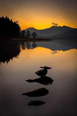 Llynnau Mymbyr Photograph - Stepping Stones To Snowdon by Peter OReilly