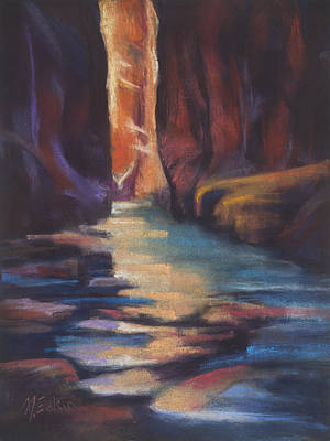 Stepping Stones Zion Canyon Art Print