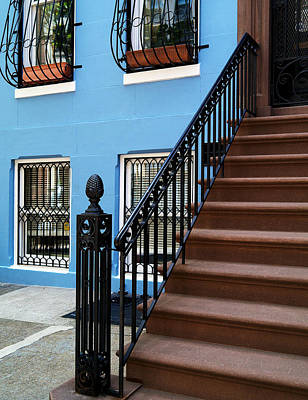 Photograph - Steps And A Blue Wall by Cornelis Verwaal