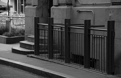 Photograph - Steps And Rails In Black And White by Rob Hans