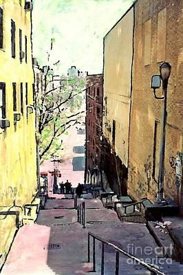 Steps At 187 Street Print by Sarah Loft