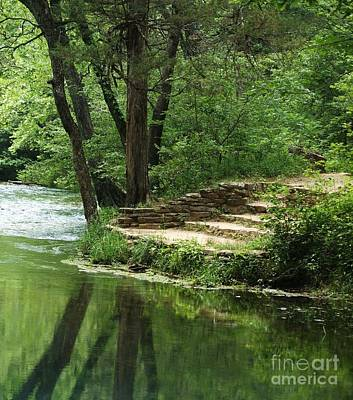 Art Print featuring the photograph Steps At Blue Spring by Julie Clements