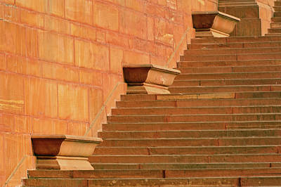 Secretariat Photograph - Steps, Central Secretariat (kendriya by Adam Jones