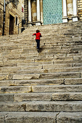 Photograph - Steps by Christopher Rees