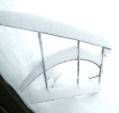 Millbury Ma Photograph - Steps Covered In Snow by Mike McCool