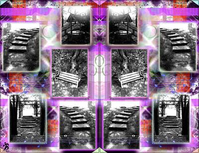 Steps Double Purplered  Art Print by Daniels Aesthetics