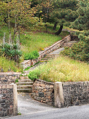 Park Scene Photograph - Steps Guiding The Way by Gill Billington