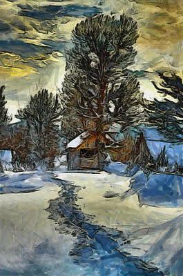 Steps In The Snow Art Print by Georgi Dimitrov