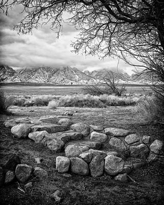 Steps Manzanar Ca Art Print