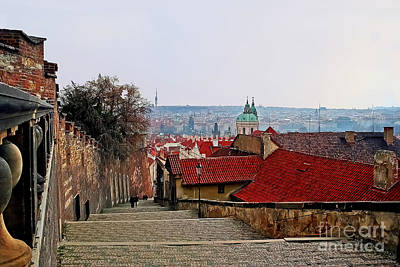Photograph - Steps Of Prague by Elvis Vaughn