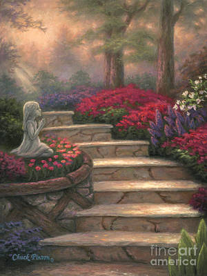 Prayer Wall Art - Painting - Steps Of Providence by Chuck Pinson