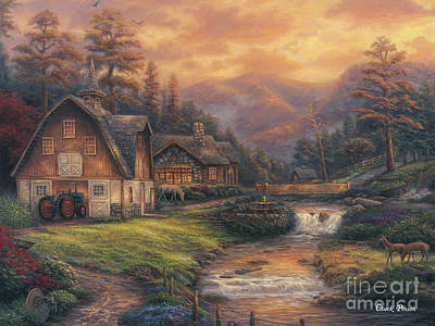 Blue Ridge Painting - Steps Off The Appalachian Trail by Chuck Pinson