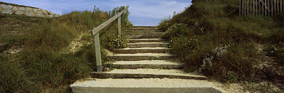 Steps Onto A Beach, Pontusval Art Print by Panoramic Images