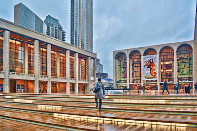 Steps To Fame Lincoln Center Art Print by Jeffrey Friedkin