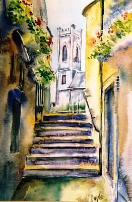 Twelfth Painting - Steps To Saint Marys Church Kilkenny by Trudi Doyle
