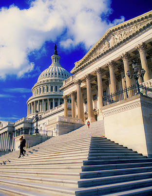 Senate Photograph - Steps To Senate Chambers At Us Capitol by Panoramic Images