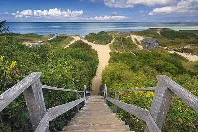 Steps To The Beach Art Print by Katherine Gendreau