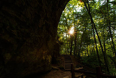 Photograph - Steps To The Setting Sun by Haren Images- Kriss Haren