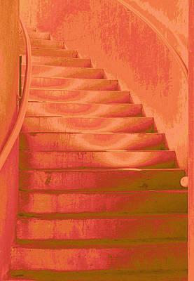 Tangerine Digital Art - Steps by Wendy J St Christopher