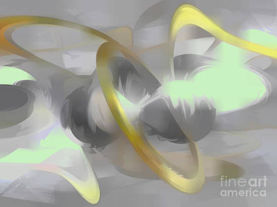 Sterling Silver Digital Art - Sterling Desire Abstract by Alexander Butler