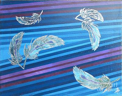 Sterling Silver Painting - Sterling Plume by Angela Conley