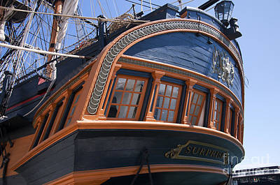 Photograph - Stern Of Hms Surprise by Brenda Kean