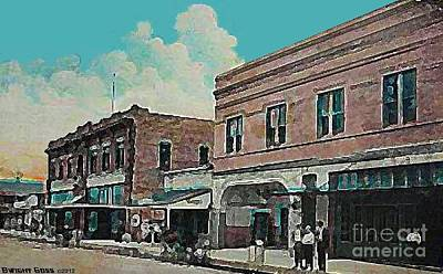 Painting - Stern's Theatre In Port Arthur Tx In 1918 by Dwight Goss
