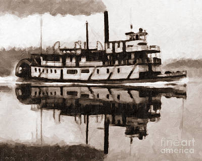 Photograph - Sternwheeler Sol Simpson 1910 by Joe Jeffers