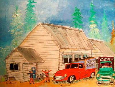 St.sophie Litvack Painting - Ste.sophie's Farmers Montreal Memories by Michael Litvack