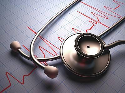 Stethoscope Photograph - Stethoscope by Ktsdesign