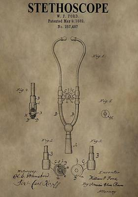 Stethoscope Patent Art Print by Dan Sproul