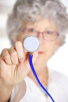 Stethoscope Photograph - Stethoscope Use by Lea Paterson