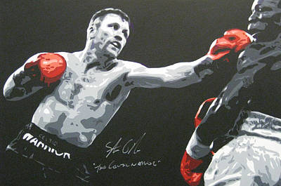 Painting - Steve Collins 1 by Geo Thomson