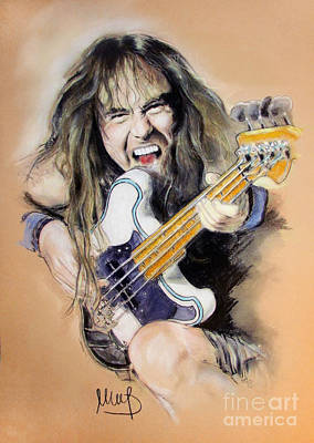 Bassist Painting - Steve Harris by Melanie D