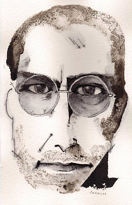 Steve Jobs As The Innovator Art Print by Mark M  Mellon