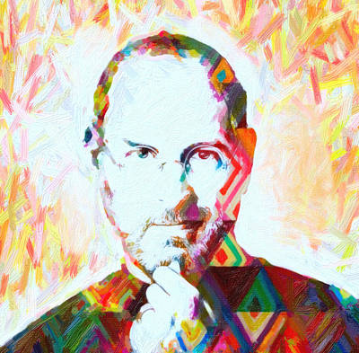 Actor Painting - Steve Jobs by Celestial Images