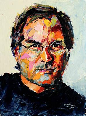 Derek Russell Wall Art - Painting - Steve Jobs by Derek Russell